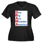One Big Ass Mistake America Women's Plus Size V-Ne