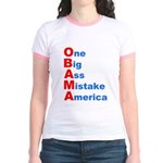 One Big Ass Mistake America Jr. Ringer T-Shirt