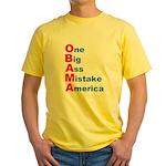 One Big Ass Mistake America Yellow T-Shirt