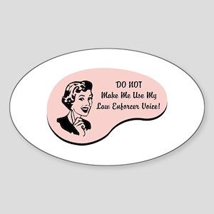 Law Enforcer Voice Oval Sticker