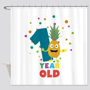 One Year old first Birthday Party C Shower Curtain