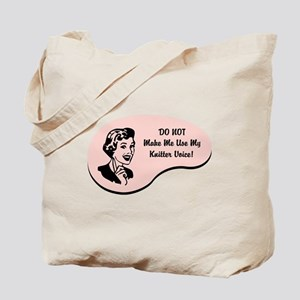 Knitter Voice Tote Bag