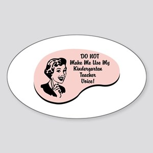 Kindergarten Teacher Voice Oval Sticker