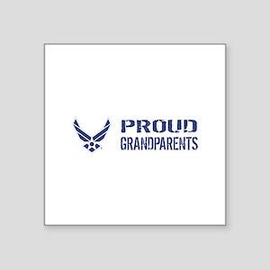 "USAF: Proud Grandparents Square Sticker 3"" x 3"""