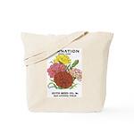 Vintage Carnation Seed Label Tote Bag