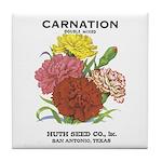 Vintage Carnation Seed Label Tile Coaster