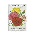 Vintage Carnation Seed Label Rectangle Magnet