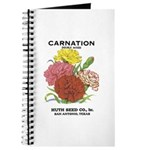 Vintage Carnation Seed Label Journal
