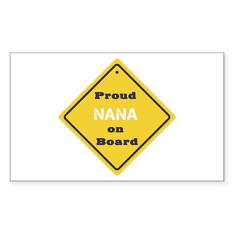 Proud Nana on Board Rectangle Sticker