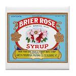 Vintage Syrup Label Tile Coaster