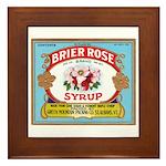 Vintage Syrup Label Framed Tile