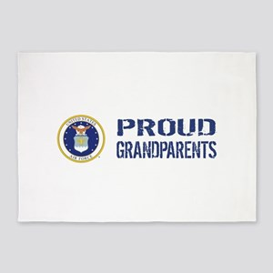 USAF: Proud Grandparents 5'x7'Area Rug