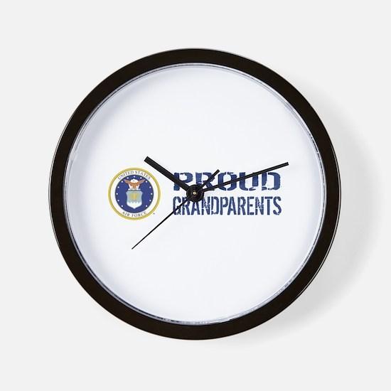 USAF: Proud Grandparents Wall Clock