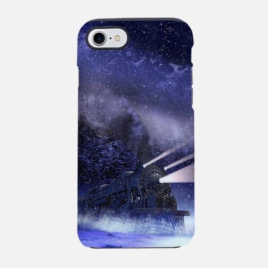 Snowy Night Train iPhone 7 Tough Case