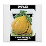 Vintage Seed/Produce Labels Tile Coaster