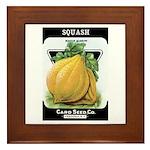 Vintage Seed/Produce Labels Framed Tile