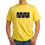 SF Muni Railway Yellow T-Shirt