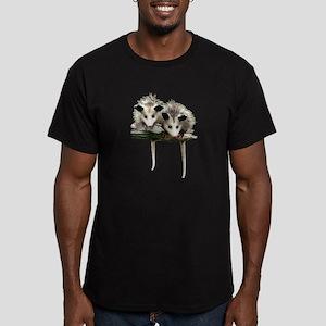 Baby Possums on a Bran T-Shirt