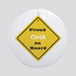 Proud Oma on Board Ornament (Round)