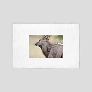 Nyala with oxpecker 4' x 6' Rug
