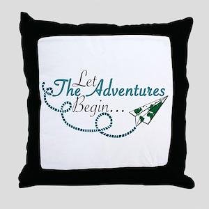Let the Adventures Begin Throw Pillow