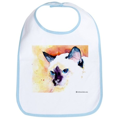 Siamese Cat Gifts Bib