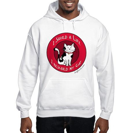 I Rescued My Cat Hooded Sweatshirt