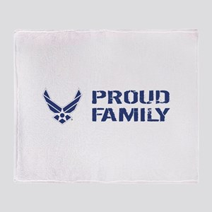 USAF: Proud Family Throw Blanket