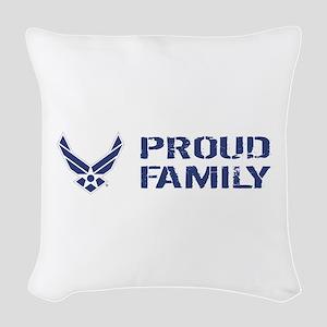 USAF: Proud Family Woven Throw Pillow
