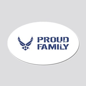 USAF: Proud Family 20x12 Oval Wall Decal