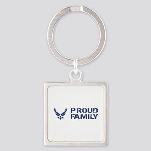 USAF: Proud Family Square Keychain