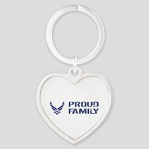 USAF: Proud Family Heart Keychain