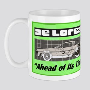 """DeLorean-Ahead of its Time"" Mug"