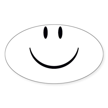 Smiley Face Oval Sticker (10 pk)
