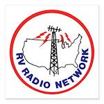 "Rv Radio Network Square Car Magnet 3"" X 3&quo"