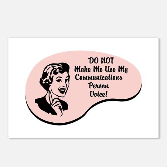 Communications Person Voice Postcards (Package of