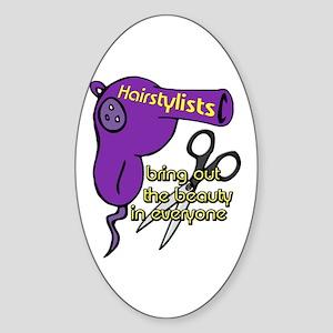 Hairstylist Oval Sticker