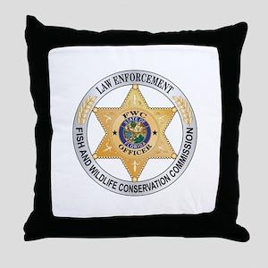 Florida Game Warden Throw Pillow