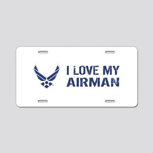 USAF: I Love My Airman Aluminum License Plate