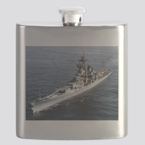 USS Missouri Ship's Image Flask
