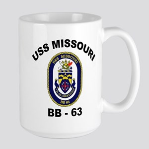 USS Missouri BB 63 Large Mug