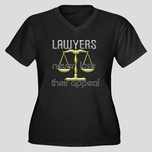 Lawyers Appeal Women's Plus Size V-Neck Dark T-Shi