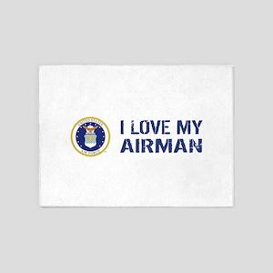 USAF: I Love My Airman 5'x7'Area Rug