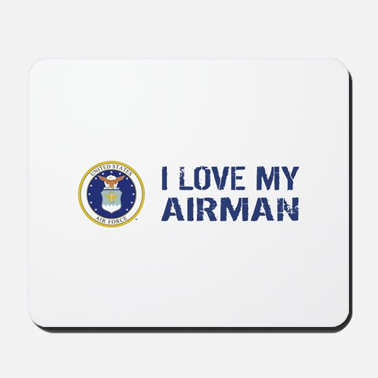 USAF: I Love My Airman Mousepad