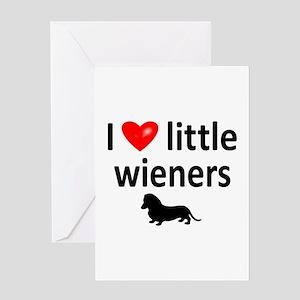 Love Little Wieners Greeting Card