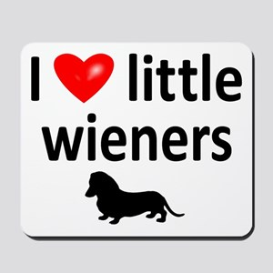 Love Little Wieners Mousepad