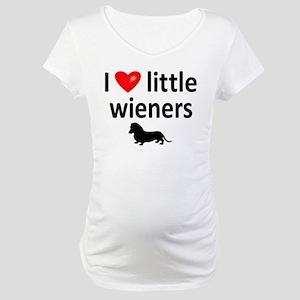 Love Little Wieners Maternity T-Shirt