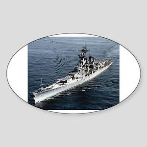 USS Missouri Ship's Image Sticker (Oval)