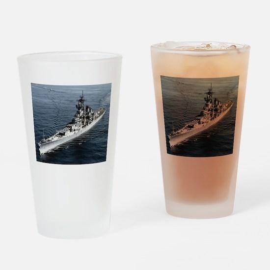 USS Missouri Ship's Image Drinking Glass