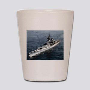 USS Missouri Ship's Image Shot Glass